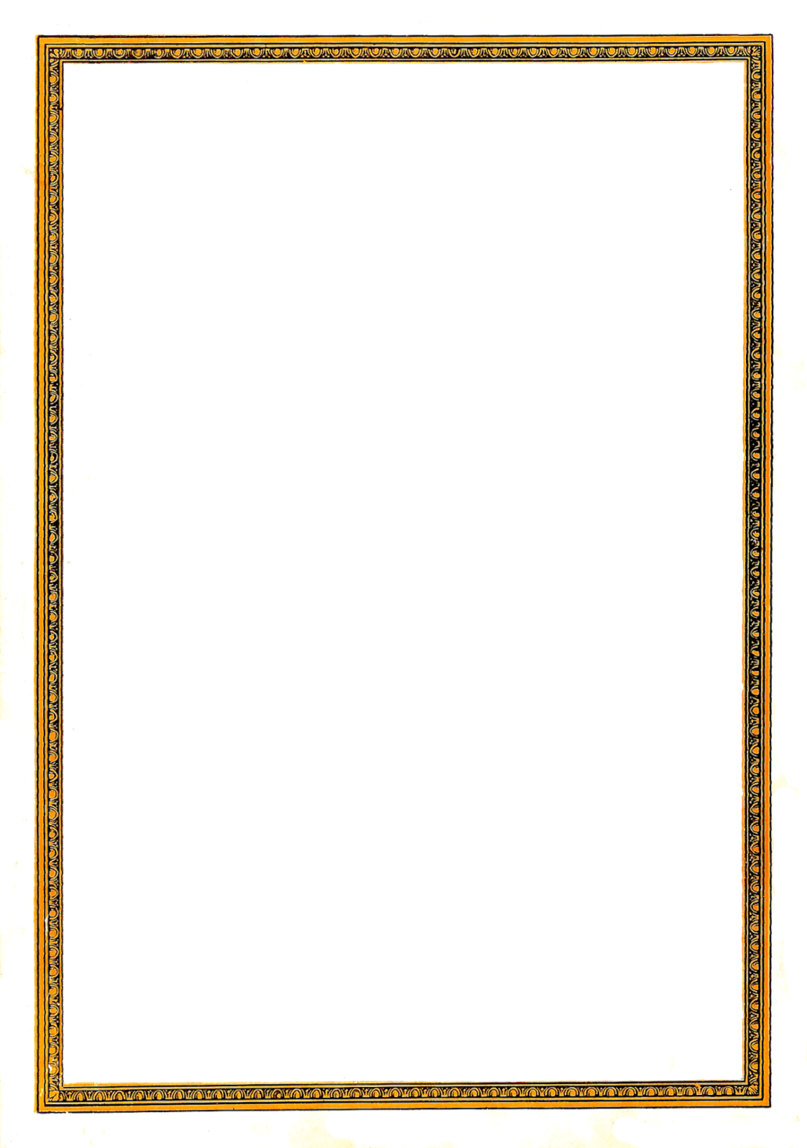 Gold Picture Frames clipart.