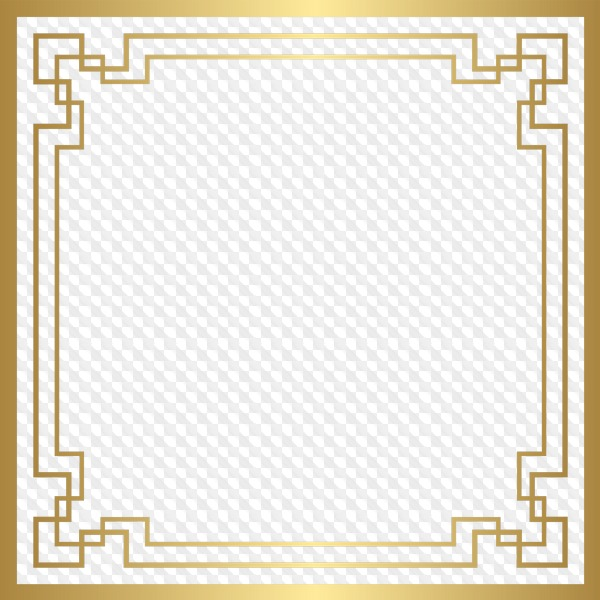 81 PNG, Golden square frames.