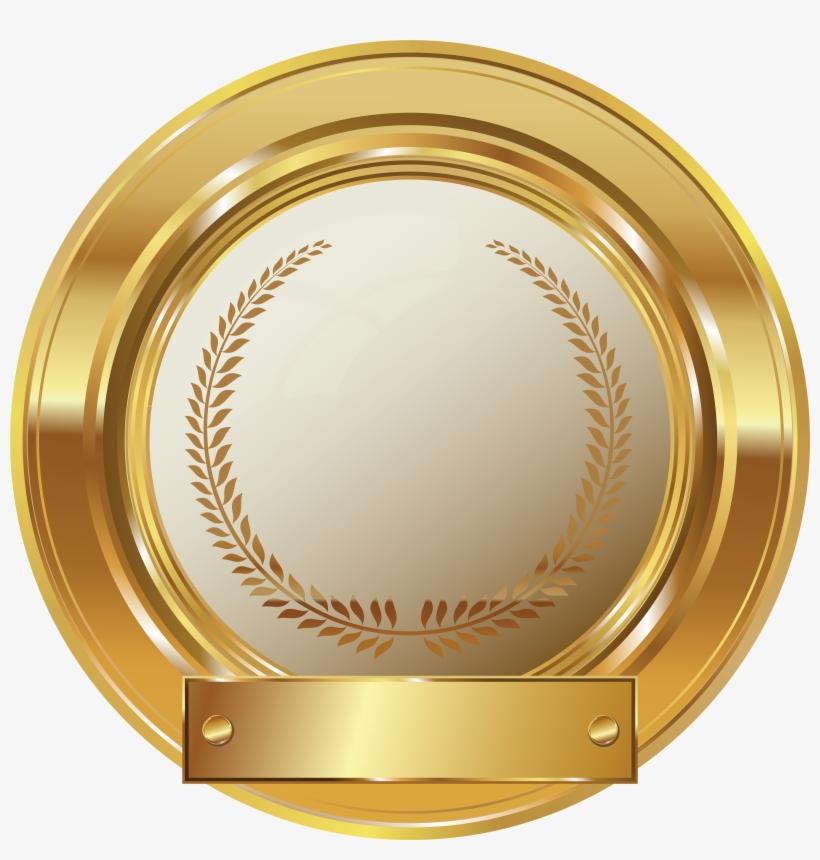 Gold Seal Clip Png Art Image.