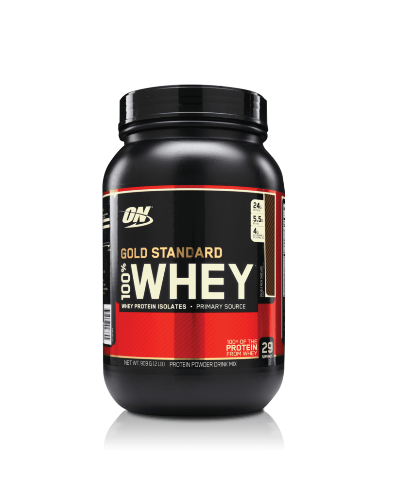 GOLD STANDARD 100% WHEY THE #1 SELLING SPORTS SUPPLEMENT.