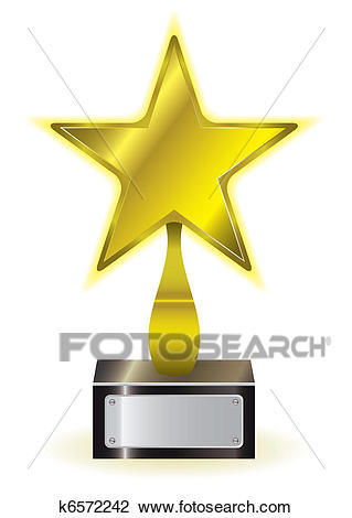 Gold star award Clipart.