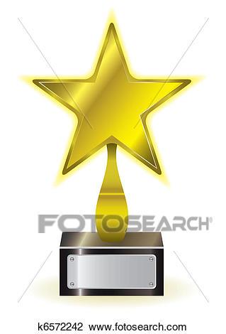 Gold star award Clipart.