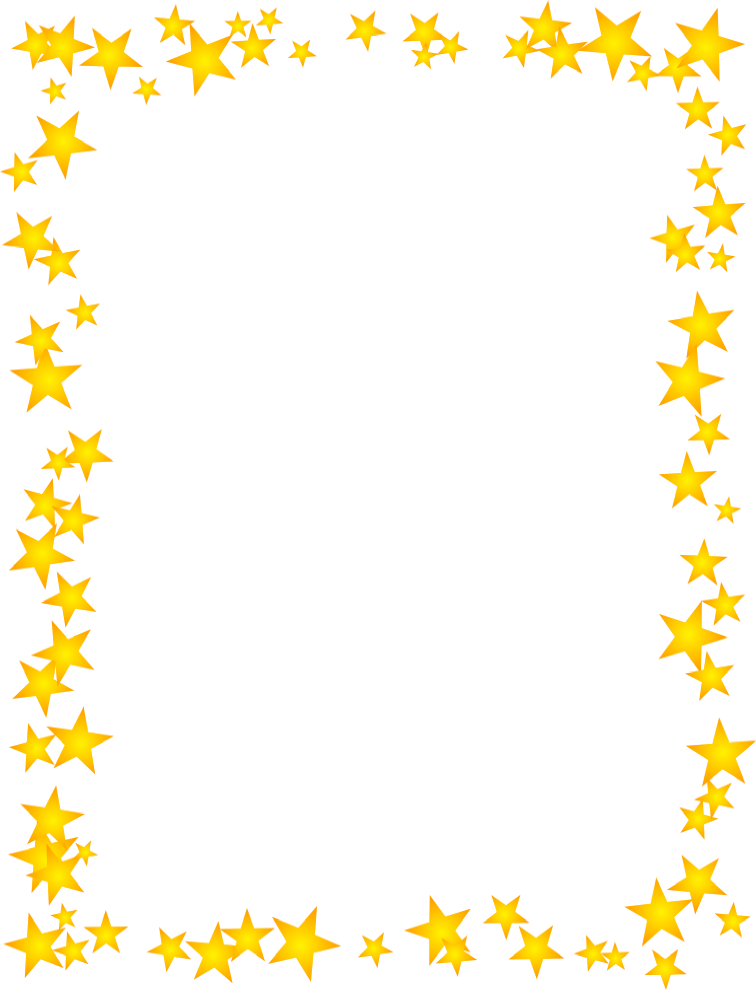 Gold Stars SCattered Border.