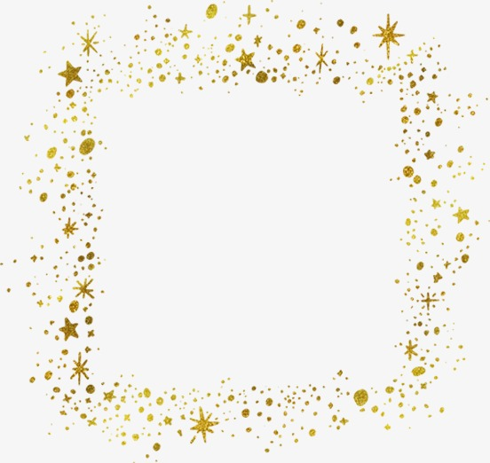Gold Stars Border, Golden, Star, Frame PNG Transparent Image and.