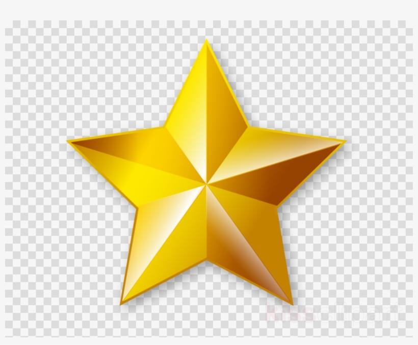 Golden Star Transparent Clipart Clip Art.