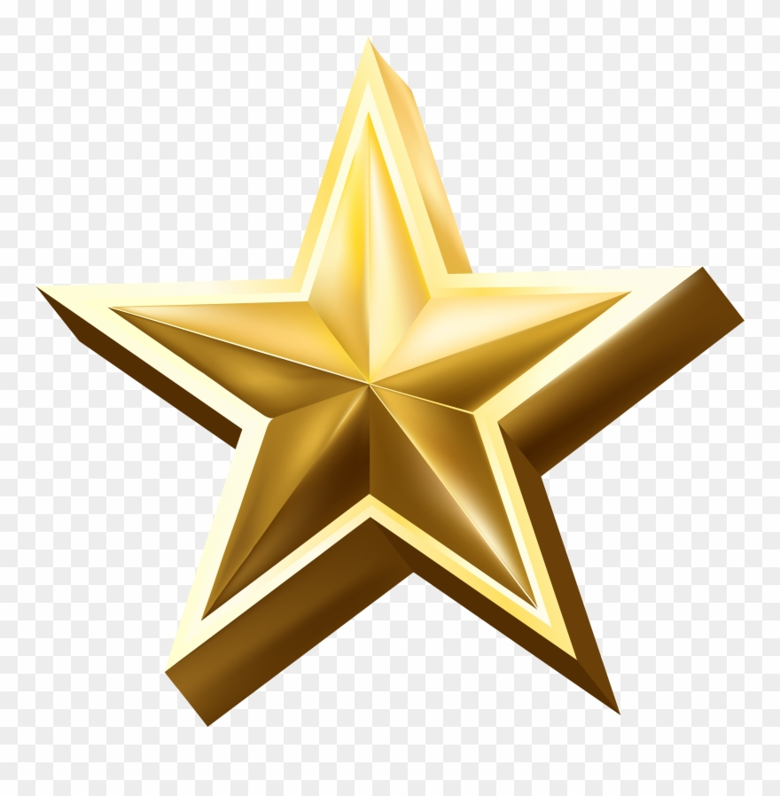Gold Star Logo Free Clipart (#794554).