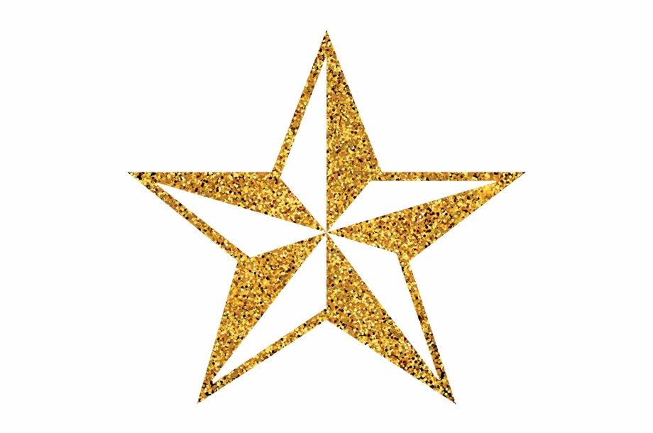 3d Gold Star Png.