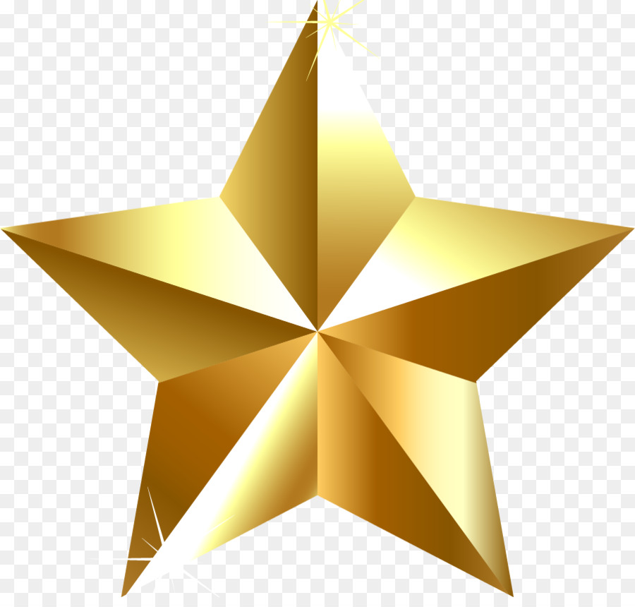 Gold Star png download.