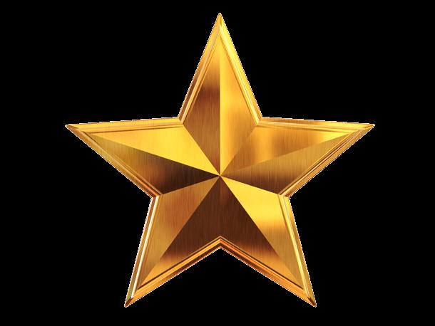 Download 3D Gold Star PNG File.