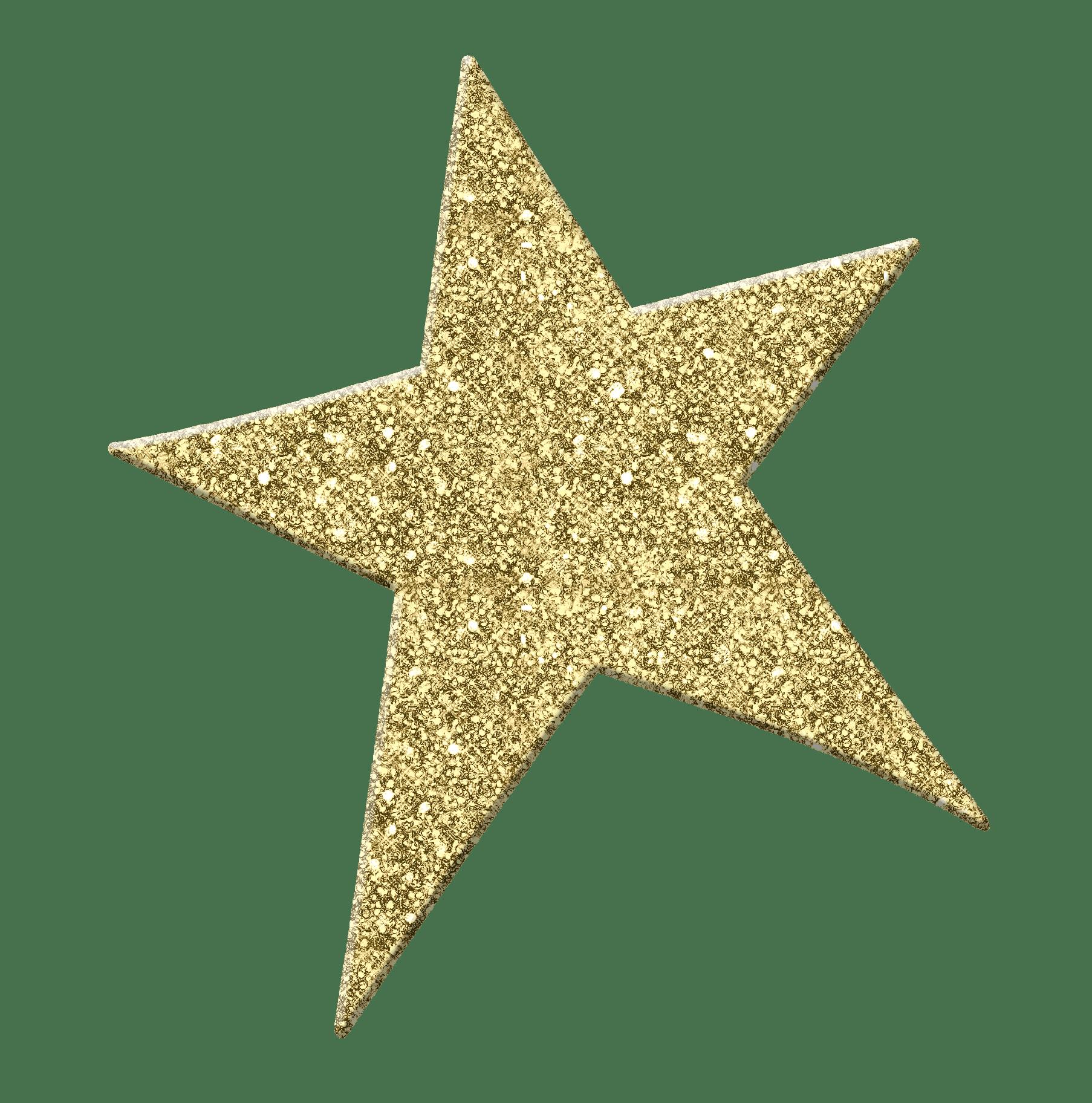Golden Star PNG Image.