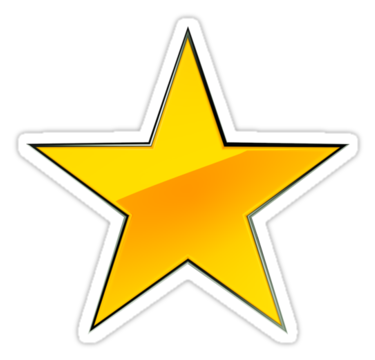 Gold Star Sticker Clipart.