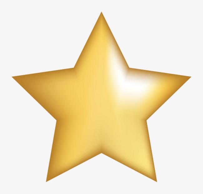 Vector Metallic Gold Five Pointed Star, Gold Vector, Star Vector.