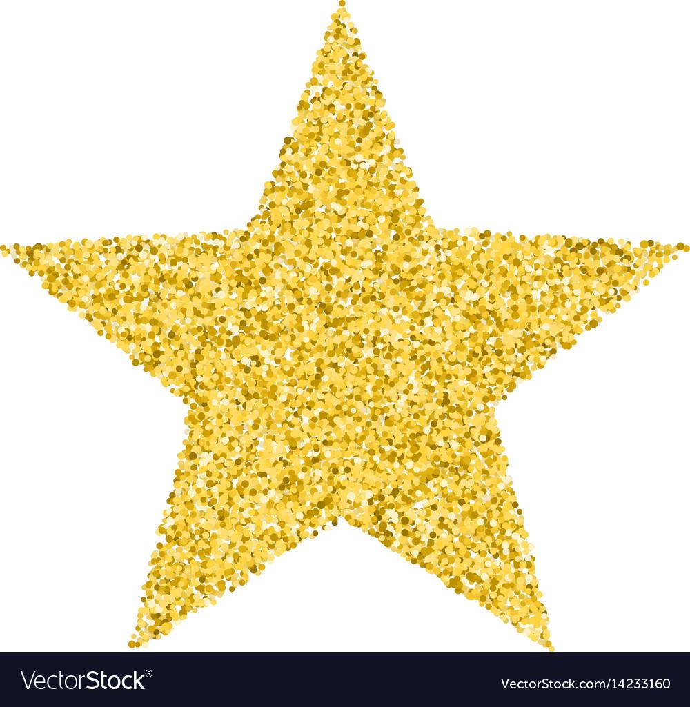 Glitter golden star.