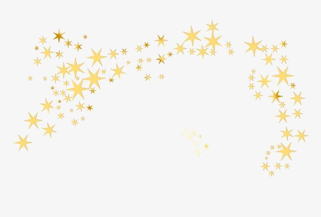 Flying Small Golden Star PNG, Clipart, Arched, Arranged, Arranged.