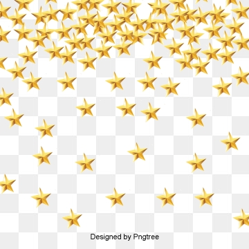 Gold Stars PNG Images.