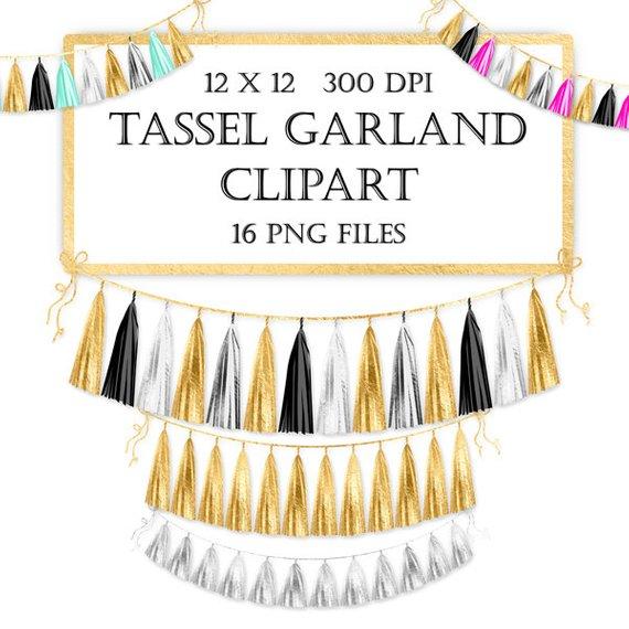 Tassel Banner Clip Art.