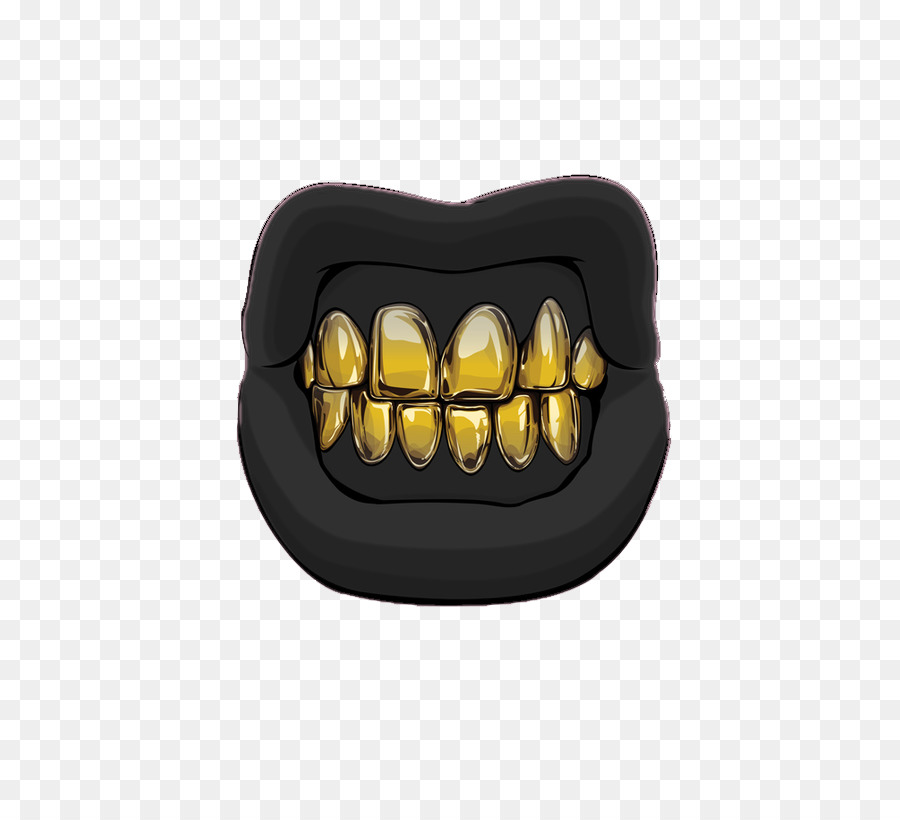 Gold Teeth png download.
