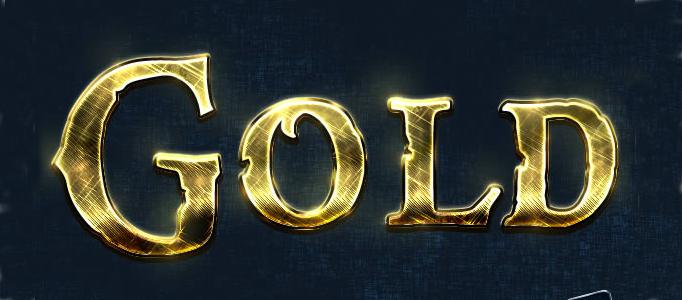 Shining Golden Text Effect Creation.