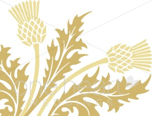 Gold Thistle Clipart.