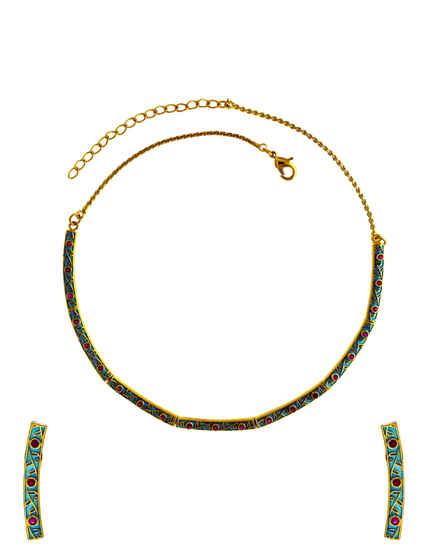 Diamond Jewellery: American Diamond Necklace Set for Women.