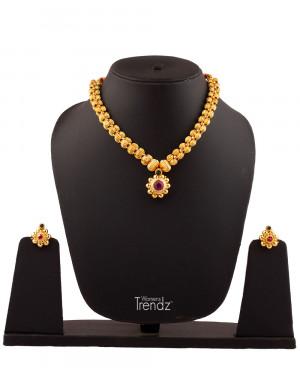 Womens Trendz Traditional Handmade Jewellery Moti Panadi24K.