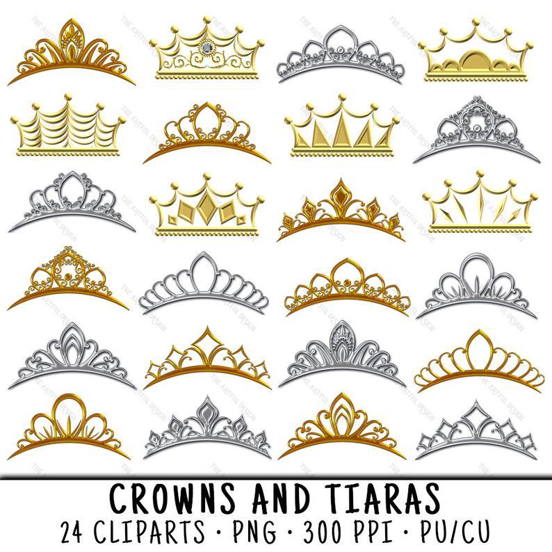 Tiara Clipart, Gold Crown Clipart, Tiara Clip Art, Gold Crown Clip Art,  Tiara PNG, Gold Crown PNG, PNG Tiara, Princess Crown Tiara.