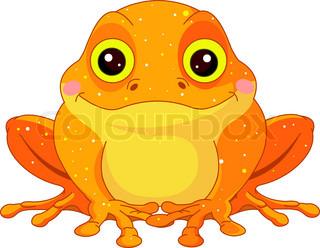 Funny toad cartoon.