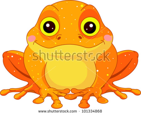 Cartoon Creature Fantastic Yellow Funny Smile Stock Vector 4959370.