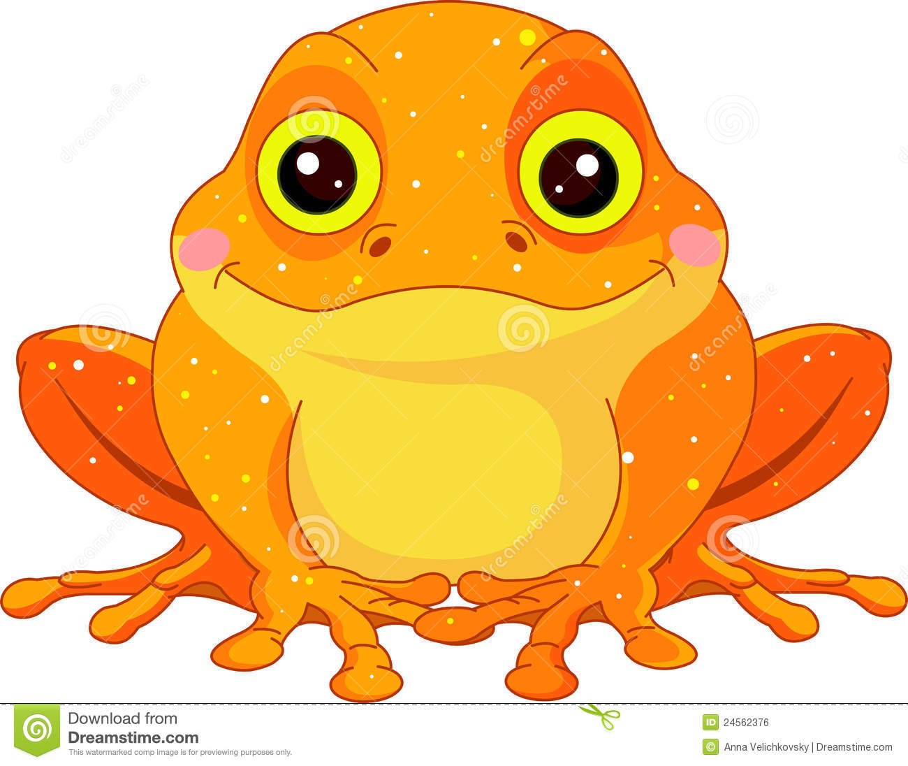 Fun Zoo. Golden Toad Royalty Free Stock Image.