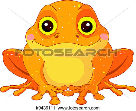 Clipart of Fun zoo. Golden Toad k9436111.