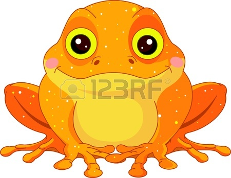 Fun Zoo Illustration Of Cute Golden Toad Royalty Free Cliparts.