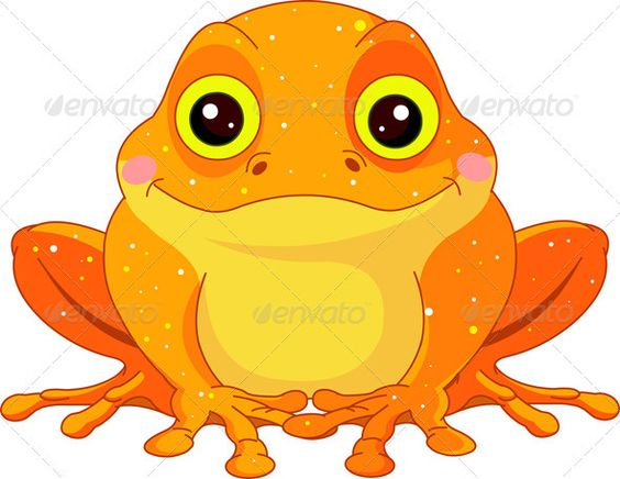 Fun Zoo. Golden Toad #GraphicRiver Fun zoo. Illustration of cute.