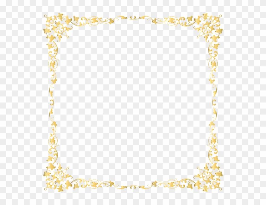 Transparent Background Gold Border Clipart (#101372).