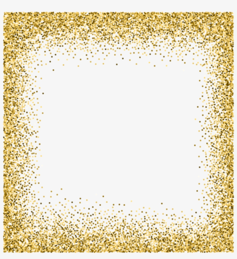 Transparent Backgrounds Gold Glitter.