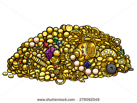 Treasure Pile Stock Images, Royalty.