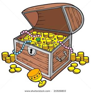 Image: Open Treasure Chest with Gold Coins.