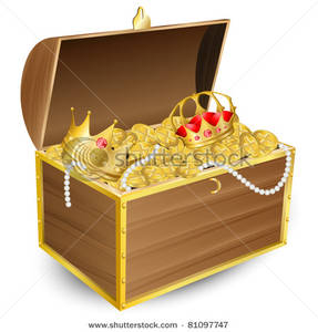 Art Image: Treasure Chest Full of Gold and Jewels.