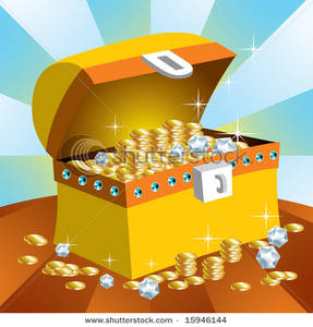 Image: A Gold Treasure Chest.