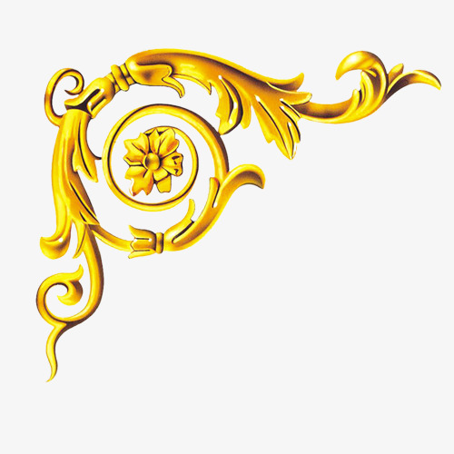 Gold Trim Png, Vector, PSD, and Clipart With Transparent Background.