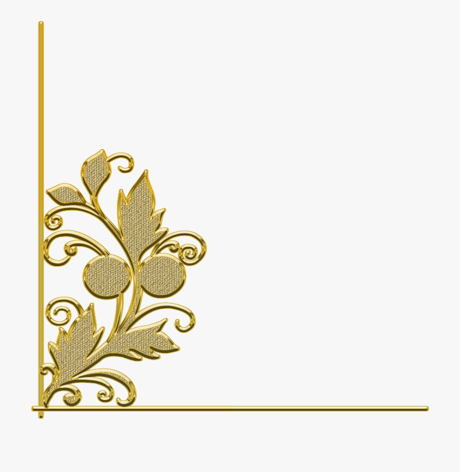 ftestickers #border #corner #trim #leaf #flower #gold.