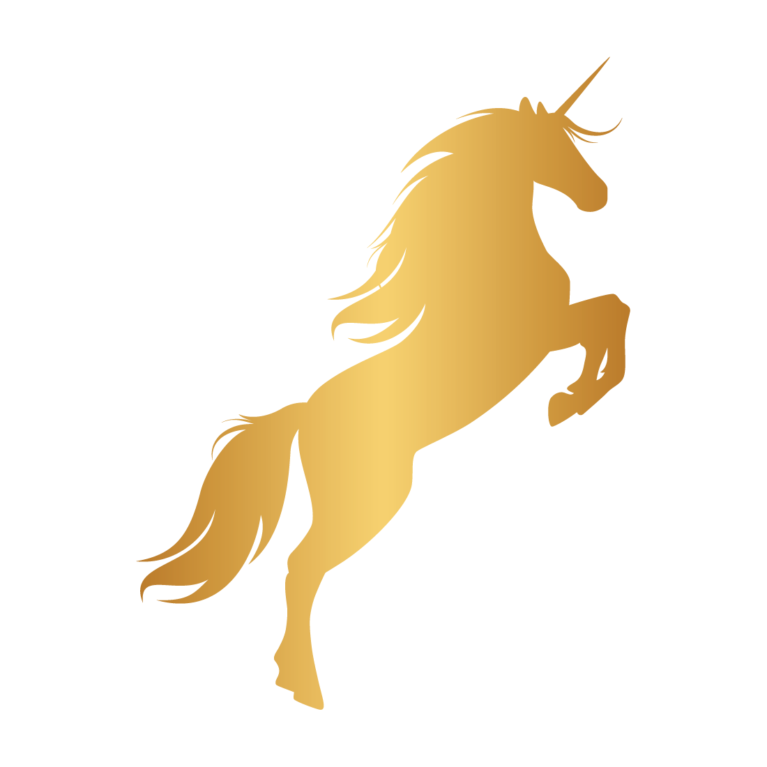Unicorn Horn Mustang Gold Portable Network Graphics.