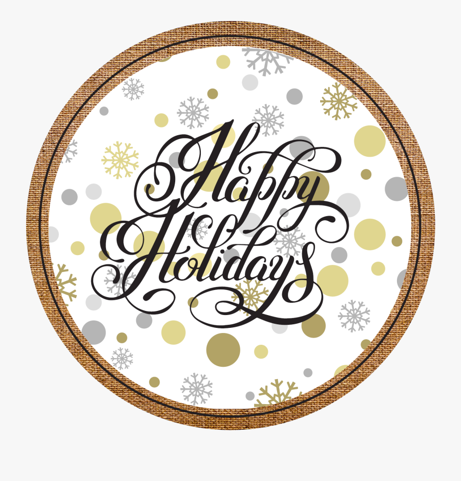 Happy Holidays Gold Vector , Free Transparent Clipart.