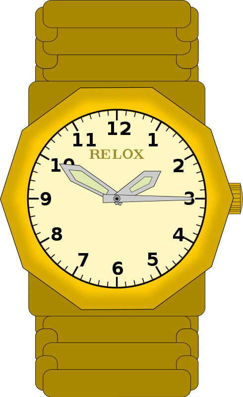 Gold Watch Cliparts.