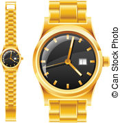 Gold watch Clipart Vector Graphics. 4,281 Gold watch EPS clip art.