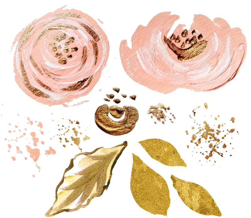Pink And Gold Watercolor at GetDrawings.com.