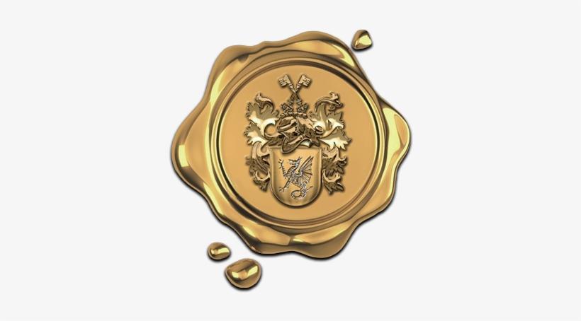 Gold Wax Seal Transparent Transparent PNG.