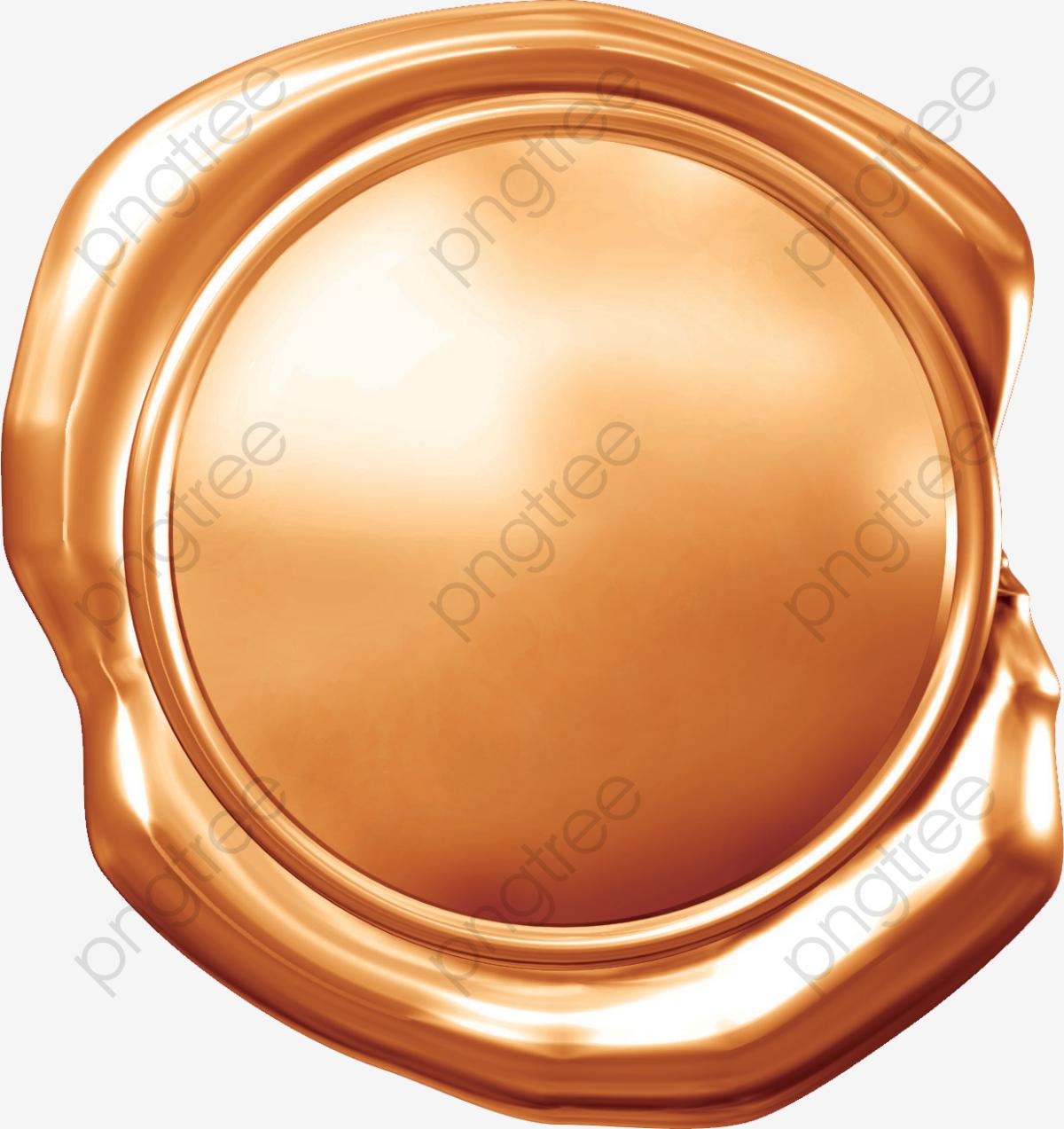 Gold Wax Seal Wax Seal, Seal Clipart, Gold Wax Seal, Wax Seal PNG.