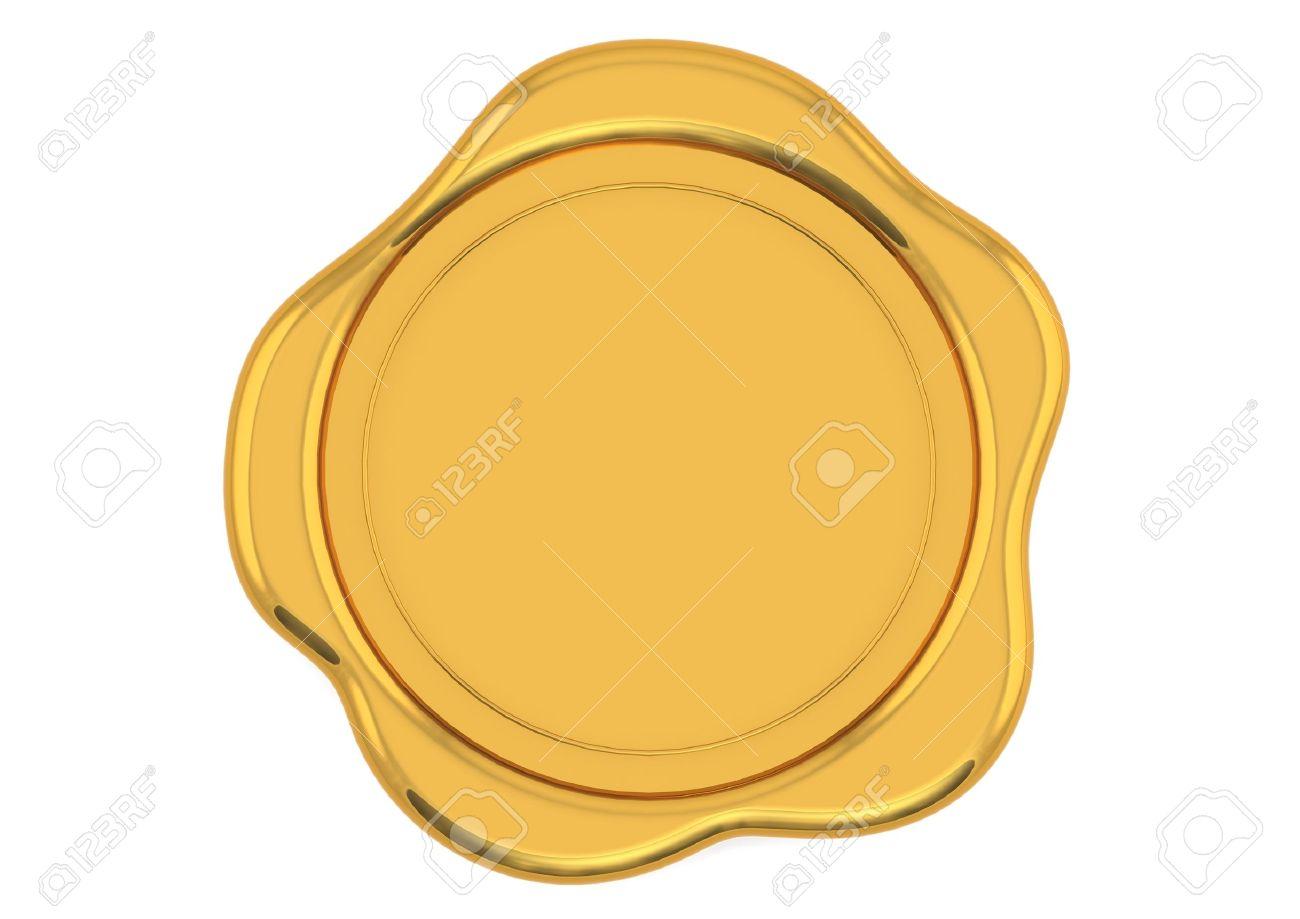 Gold wax seal.