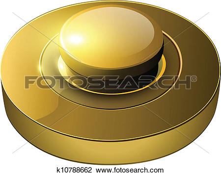 Clipart of gold web button k10788662.