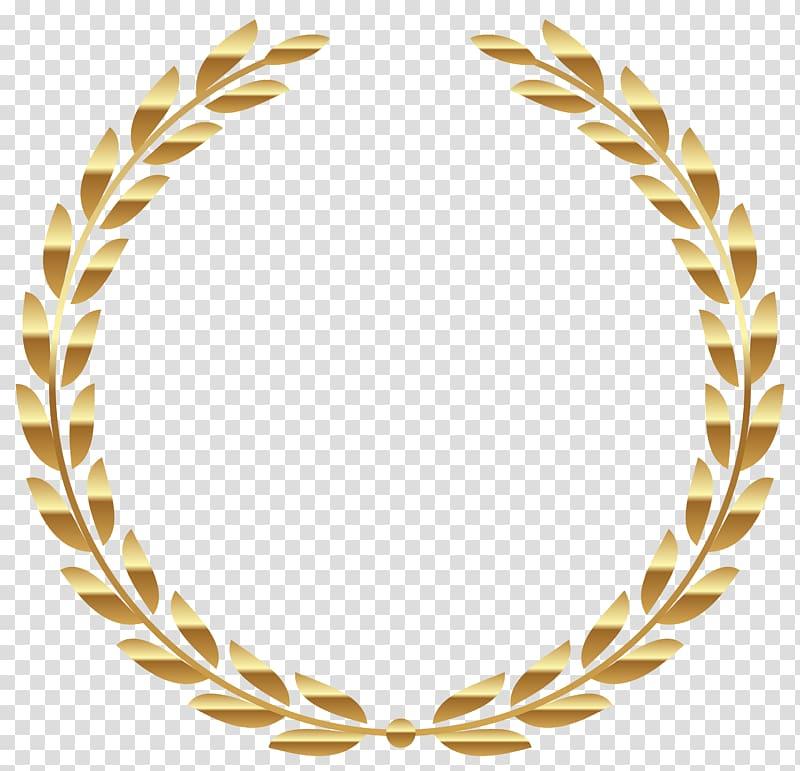 Yellow leaf , Laurel wreath Gold , wreath transparent.